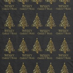 Merry Christmas Tree Typography Black And Gold Festive Canvas 12  X 12   by yoursparklingshop