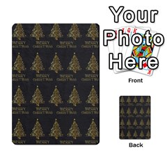 Merry Christmas Tree Typography Black And Gold Festive Multi Purpose Cards (rectangle)  by yoursparklingshop