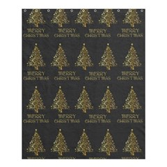 Merry Christmas Tree Typography Black And Gold Festive Shower Curtain 60  X 72  (medium)  by yoursparklingshop