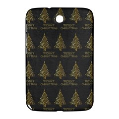 Merry Christmas Tree Typography Black And Gold Festive Samsung Galaxy Note 8 0 N5100 Hardshell Case  by yoursparklingshop