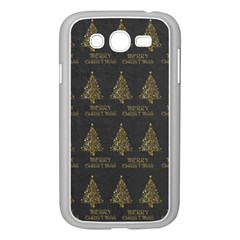 Merry Christmas Tree Typography Black And Gold Festive Samsung Galaxy Grand Duos I9082 Case (white) by yoursparklingshop