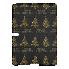 Merry Christmas Tree Typography Black And Gold Festive Samsung Galaxy Tab S (10 5 ) Hardshell Case  by yoursparklingshop