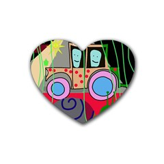 Tractor Rubber Coaster (heart)  by Valentinaart