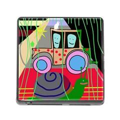 Tractor Memory Card Reader (Square) by Valentinaart