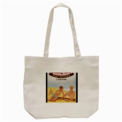 Vintage Summer Sunscreen Advertisement Tote Bag (cream) by yoursparklingshop