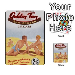 Vintage Summer Sunscreen Advertisement Multi Purpose Cards (rectangle)  by yoursparklingshop