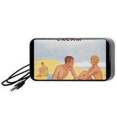 Vintage Summer Sunscreen Advertisement Portable Speaker (Black)