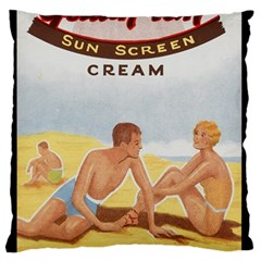 Vintage Summer Sunscreen Advertisement Standard Flano Cushion Case (one Side) by yoursparklingshop