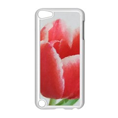 Red Tulip Watercolor Painting Apple Ipod Touch 5 Case (white) by picsaspassion