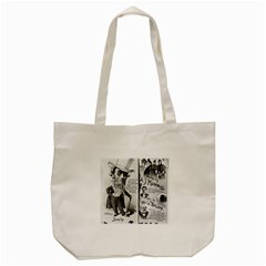 Vintage Song Sheet Lyrics Black White Typography Tote Bag (cream) by yoursparklingshop