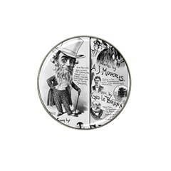 Vintage Song Sheet Lyrics Black White Typography Hat Clip Ball Marker (10 Pack) by yoursparklingshop