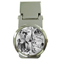 Vintage Song Sheet Lyrics Black White Typography Money Clip Watches by yoursparklingshop