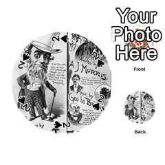 Vintage Song Sheet Lyrics Black White Typography Playing Cards 54 (round)  by yoursparklingshop