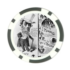 Vintage Song Sheet Lyrics Black White Typography Poker Chip Card Guards by yoursparklingshop