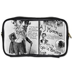 Vintage Song Sheet Lyrics Black White Typography Toiletries Bags 2 Side by yoursparklingshop