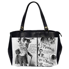 Vintage Song Sheet Lyrics Black White Typography Office Handbags (2 Sides)  by yoursparklingshop
