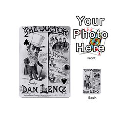 Vintage Song Sheet Lyrics Black White Typography Playing Cards 54 (mini)  by yoursparklingshop