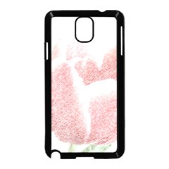 Red Tulip Pencil Drawing Samsung Galaxy Note 3 Neo Hardshell Case (black) by picsaspassion