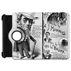 Vintage Song Sheet Lyrics Black White Typography Kindle Fire Hd Flip 360 Case by yoursparklingshop