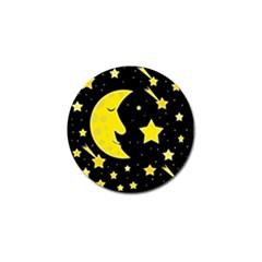 Sleeping Moon Golf Ball Marker (10 Pack) by Valentinaart