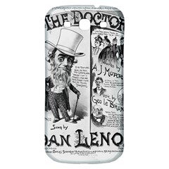 Vintage Song Sheet Lyrics Black White Typography Samsung Galaxy S3 S Iii Classic Hardshell Back Case by yoursparklingshop