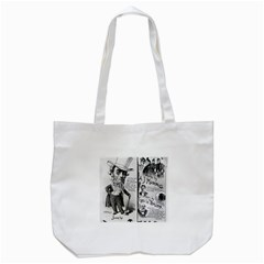 Vintage Song Sheet Lyrics Black White Typography Tote Bag (white) by yoursparklingshop