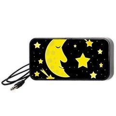 Sleeping Moon Portable Speaker (black)  by Valentinaart