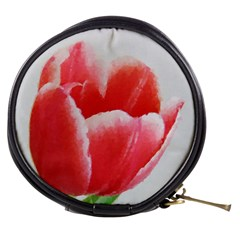 Tulip Red Watercolor Painting Mini Makeup Bags by picsaspassion