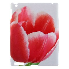 Tulip Red Watercolor Painting Apple Ipad 3/4 Hardshell Case by picsaspassion