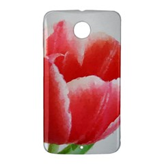 Tulip red watercolor painting Nexus 6 Case (White) by picsaspassion
