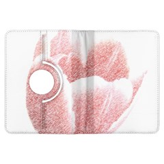 Tulip red pencil drawing art Kindle Fire HDX Flip 360 Case by picsaspassion