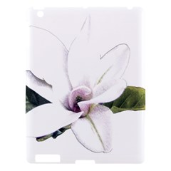 White Magnolia Pencil Drawing Art Apple Ipad 3/4 Hardshell Case by picsaspassion
