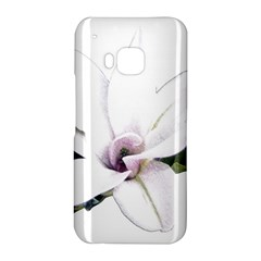 White Magnolia pencil drawing art HTC One M9 Hardshell Case by picsaspassion