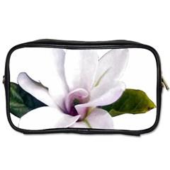 Magnolia Wit Aquarel Painting Art Toiletries Bags 2 Side by picsaspassion