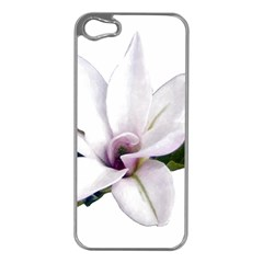 Magnolia Wit Aquarel Painting Art Apple Iphone 5 Case (silver)