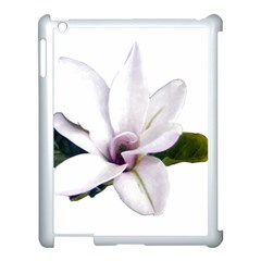 Magnolia Wit Aquarel Painting Art Apple Ipad 3/4 Case (white) by picsaspassion