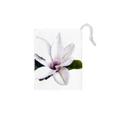 Magnolia Wit Aquarel painting art Drawstring Pouches (XS)  by picsaspassion