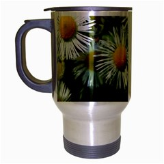 White Summer Flowers Oil Painting Art Travel Mug (silver Gray) by picsaspassion