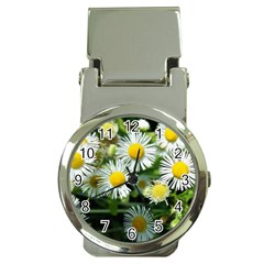 White summer flowers oil painting art Money Clip Watches by picsaspassion