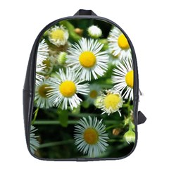 White summer flowers oil painting art School Bags(Large)  by picsaspassion