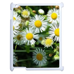 White Summer Flowers Oil Painting Art Apple Ipad 2 Case (white) by picsaspassion