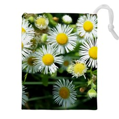 White Summer Flowers Oil Painting Art Drawstring Pouches (xxl) by picsaspassion