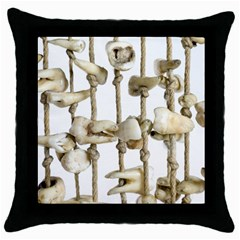 Hanging Human Teeth Dentist Funny Dream Catcher Dental Throw Pillow Case (black) by yoursparklingshop