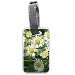 White Summer Flowers Watercolor Painting Art Luggage Tags (one Side)  by picsaspassion