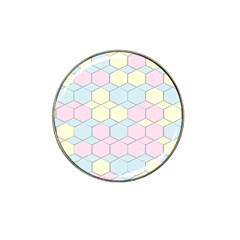 Colorful Honeycomb   Diamond Pattern Hat Clip Ball Marker (4 Pack)