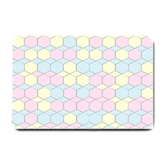 Colorful Honeycomb   Diamond Pattern Small Doormat  by picsaspassion