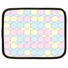 Colorful Honeycomb   Diamond Pattern Netbook Case (xl)  by picsaspassion