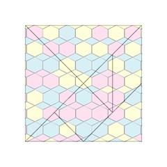 Colorful Honeycomb   Diamond Pattern Acrylic Tangram Puzzle (4  X 4 ) by picsaspassion