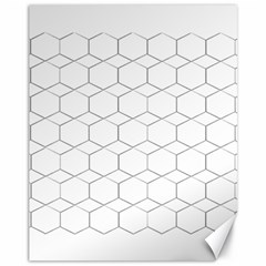 Honeycomb   Diamond Black And White Pattern Canvas 11  X 14   by picsaspassion