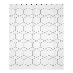 Honeycomb   Diamond Black And White Pattern Shower Curtain 60  X 72  (medium)  by picsaspassion